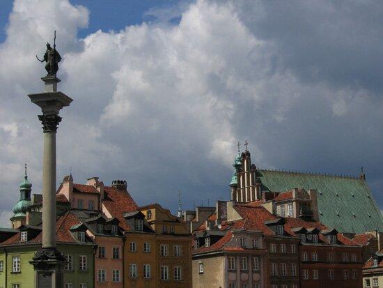 widok na kolumnę Zygmunta